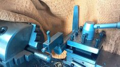 Tool Post Ball Turner by th62 -- A couple of ball turners. Number One: I wanted a tool I could just mount in the tool post rather than one that sits on top of the cross slide. I also wanted one that sat behind the work so I could get a better view, although it can be used at front as well, you just have to remove the handle, change the cutting head to the other end of the base and re attach the handle.  Once mounted on the tool post, the compound is set parallel to the bed and to the rear…