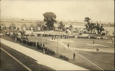 Baseball at Fort Adams, circa 1910. Fort Adams in Newport, RI, was established July 4, 1799. After the War of 1812, a review of the nation's forts determined it necessary to replace Fort Adams with a larger fort. Construction of the new fort began in 1824 and continued until 1857. The fort was in use from 1841 through 1950. In 1965, the fort became a state park and in 1994 the Fort Adams Trust was founded to maintain and offer tours of the fort. Discover more history @ www.thehistorygirl.com