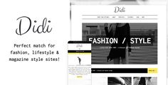 Didi is a modern responsive theme whose sole focus is to present your content in the best possible way on any screen size. Beautiful typography combined with clean layout draws and keeps readers at...