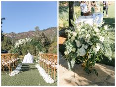 Blue and White Wine Country Ceremony at Calistoga Ranch Wedding Ceremony Arch, Outdoor Ceremony, Country Wedding Flowers, Floral Wedding, Olivia Parker, Calistoga Ranch, Reception Design, Cream Wedding, Cream Roses