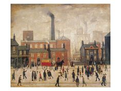 Coming Home from the Mill by Laurence Stephen Lowry. Giclee print from Art.com.