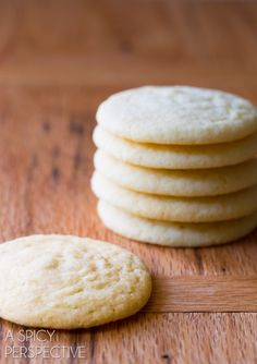How to Make The BEST Sugar Cookie Recipe Ever! Classic perfection on ASpicyPerspective.com #sugarcookies