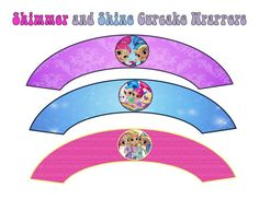 Shimmer and Shine Cupcake Wrappers INSTANT by ATimeToRememberDPK