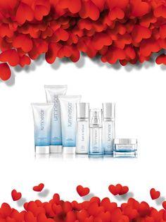 Saint Valentin !! La ligne de soins Luminesce™ Indispensable anti-âge, estompe les rides, les ridules, redonne à la peau l'éclat de la jeunesse