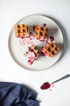 We love these mini ice cream waffle sandwiches.