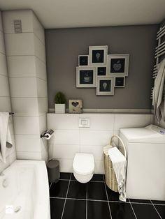 Aranżacja mieszkania, Gdańsk - Łostowice - Mała łazienka w domu jednorodzinnym bez okna, styl vintage - zdjęcie od Pracownia Projektowa MONO