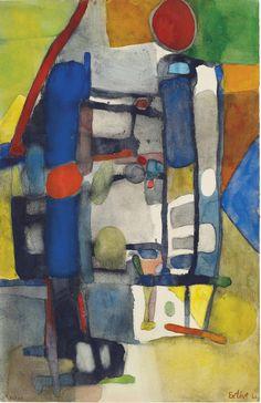 lawrenceleemagnuson:Maurice Estève (France 1904-2001) Untitled, 1964watercolour on paper 49.5 x 31.8cm