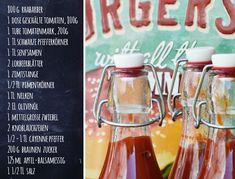 Tomaten-Rhabarber-Ketchup selbermachen - Rezept ür hausgemachte Grill-Sauce | Recipe for homemade Rhubarb BBQ-Sauce| luziapimpinella.com