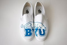 Custom Painted Shoes- BYU Cougars. $120.00, via Etsy.