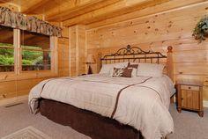 Boogie Bear-bedroom #tennessee #cabin #cabinrental #vacation #mountains #smokymountain #pigeonforge #TN