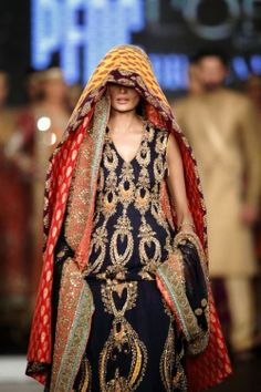 What a Ghiscari's slavers wife would wear, from Pakistan Fashion week