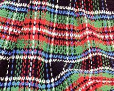 Vintage Plaid Crochet Afghan Pattern