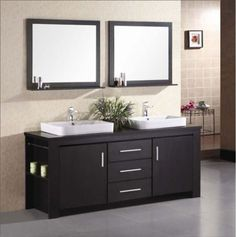 Double Basin Vanity Two Mirrors And The Shelf Or A Window In Between Home Remodel Ideas Pinterest Vanities Bathroom