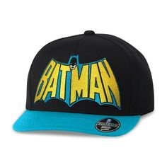 Boné Aba Reta Batman Logo 60's  #Batman #Boné #LojaDCComics #DCComics #bandUPStore
