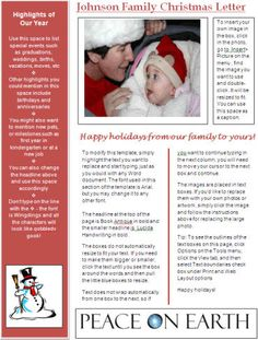 How to Write a Family Christmas Letter (to insert in Christmas cards)