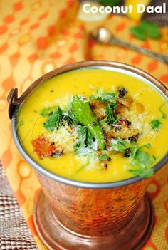 Coconut Daal/Lentils simmered in spicy creamy coconut sauce