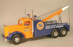 Smith-Miller Toy Truck, Union 76 Tow Truck for Smitty's Garage. Toy Trucks, Fire Trucks, Truck Driver Wife, Jorge Martinez, Truck Tattoo, Toy Garage, Truck Quotes, Black Truck, Trailer Storage