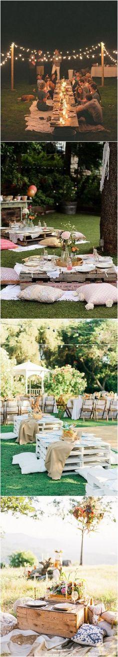 Summer Outdoor Picnic Wedding Ideas / http://www.deerpearlflowers.com/outdoor-picnic-wedding-ideas/