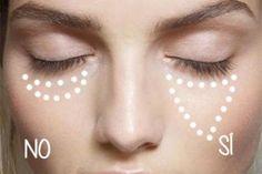 5 trucos de maquillaje para parecer más jóvenes y tutoriales  Cuando los años comienzan a pasar y las arruguitas van dejándose ver, no podemos descuidar nuestra rutina de belleza. Esto incluye tener en cuenta algunas pautas de maquillaje que nos ayudarán a restar años de manera inmediata, ¿no nos crees? ¡Pon a prueba estos consejos!  1. Corrige tus ojeras formando un triángulo: usa uno o dos tonos más claros de tu color natural, evitando siempre un tono demasiado claro que dará un aspecto…