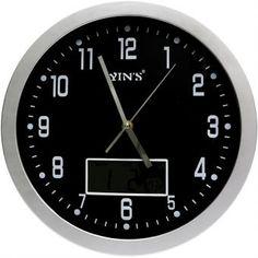 Relógio de Parede Yins YI15020 Display LCD 28cm - Megazim