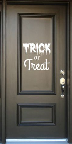 'trick or treat' door decal