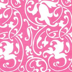 Set your table for your sweetheart! Hen House Linens~ scrolling pink
