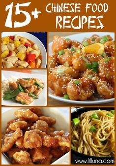 15+ YUMMY Chinese Food Recipes!!