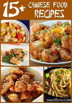 15+ YUMMY Chinese Food dishes. Great roundup on { lilluna.com } #chinese