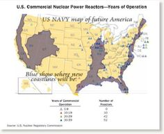 Us Navy Map Of Future America Future Map Of The United States