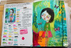 MindyLacefieldClassDarkestNightAndreaWalford  Conversation on art journaling