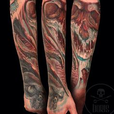 A color fantasy tattoo sleeve by artist Boris. | Intenze ink
