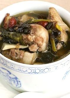 Pig's tail and duck soup