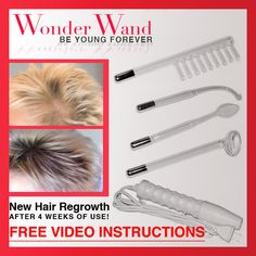 How to grow hair fast? Gorw Hair / D'arsonval / High frequency device / Re-grow hair /