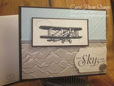 Stampin' Up!, Sky is the Limit Sale-a-bration, Going Places, DIY handmade birthday cards, masculine birthday cards. More info on my blog!