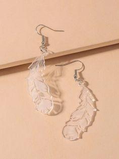 Dangly Earrings, Drop Earrings, Fantasy Jewelry, Piercings, Feather, Charmed, Bling, Vogue, Ootd