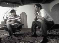 """Steve Jobs & Bill Gates. """"If you give people tools, and they use their natural abilities and their curiosity, they will develop things in ways that will surprise you very much beyond what you might have expected."""" (Gates). . .""""And no, we don't know where it will lead. We just know there's something much bigger than any of us here."""" (Jobs)"""