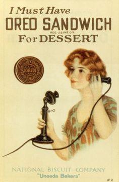 Oreo Cookie Ad, 1919.
