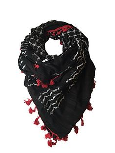 Mohavy Unisex Original Keffiyeh Shemagh Fashion Scarf (One Size, Red Dark Brown) Mohavy http://www.amazon.com/dp/B01547KUFI/ref=cm_sw_r_pi_dp_53ENwb0Z8CYPG