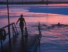 Ice swimming in Helsinki!