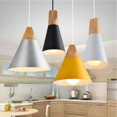 Bois lampe Pente en bois lampe par skrivo conception Bois et en aluminium lampe restaurant bar café salle à manger LED suspendus lumière luminaire