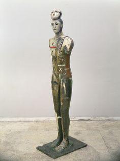Mimmo Paladino – Ritiro, 1991, Painted silver on bronze