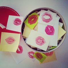 A dónde van los besos que no damos – #Manualidad #romántica - #Caja de #besos
