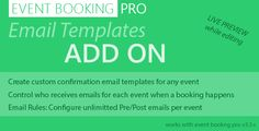 Event Booking Pro - Email Templates Addon - https://codeholder.net/item/wordpress/event-booking-pro-email-templates-addon