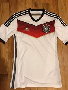 Deutscher Fussball-Bund Germany WHITE Soccer Jersey MEN S Small Adidas b843477e0
