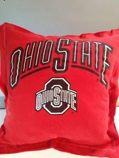 Ohio State Buckeyes TShirt Pillow Recycled by BuckEYEglasses, $14.95