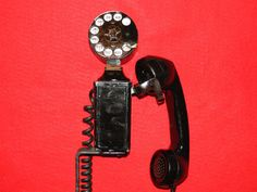 Vintage Home Telephone WESTERN ELECTRIC Rotary Dial Wall Phone Space Saver 43A