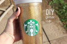 DIY glitter cup!