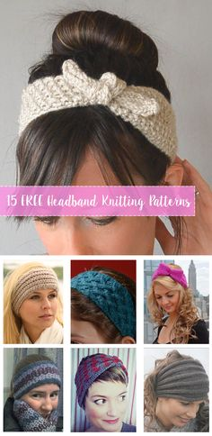 Compilation of FREE Knitting Headbands Pattern… FREE Knitting Headbands Patterns. Compilation of FREE Knitting Headbands Patterns. Beginner and experienced knitters can find many patterns for headbands. Bandeau Crochet, Knit Or Crochet, Loom Knitting, Free Knitting, Beginner Knitting Patterns, Easy Knitting Ideas, Diy Knitting Gifts, Knitting And Crocheting, Free Crochet Patterns For Beginners