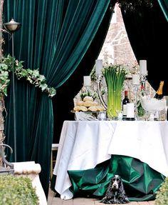 elegant party setting