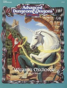 HHQ2: Wizard's Challenge - love the fact that TSR put out two player (1 player and a DM) modules.